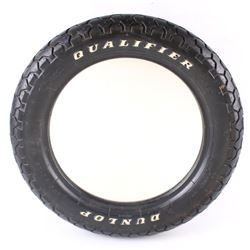 Dunlop Qualifier Tire Framed Mirror