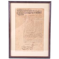1789 Indenture Apprentice Contract