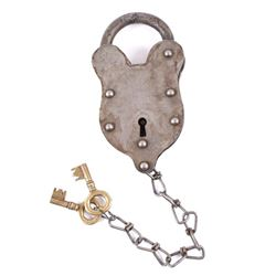 Late 19th Century Large Vintage Pauly Jail Lock