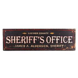Larimer County Sheriff's Office Wooden Trade Sign