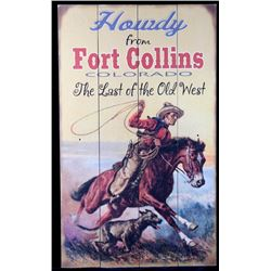 Printed Wooden Fort Collins Western Decor Sign