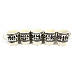 5 Anasazi Traders Designed Ceramic Kachina Cups