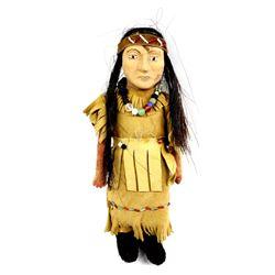 Unusual Native American Pottery Doll