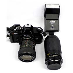 Vivitar v3000s 35mm SLR Camera and Accessories
