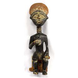 Vintage African Carved Wood Fertility God