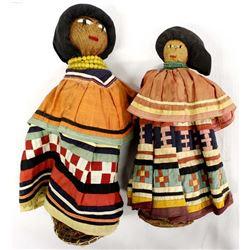 2 Vintage Native American Seminole Dolls