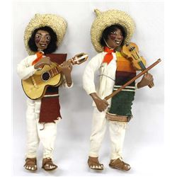 2 Mexican Composition Musician Dolls