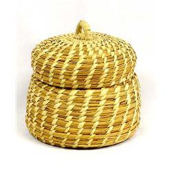 Native American Tohono O'odham Lidded Basket