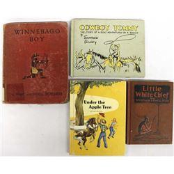 Vintage Children's Books: Cowboy & Native American