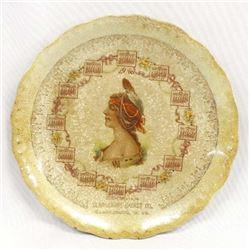 Antique Clarksburg Casket Co. Advertising Plate