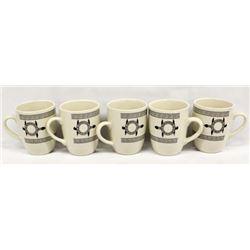 5 Anasazi Traders Designed Ceramic Turtle Cups