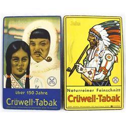 2 Vintage Tobacco Advertising Signs