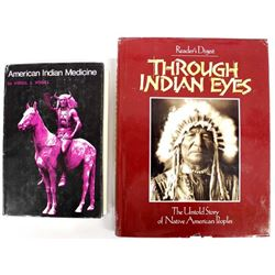 2 Hardback Books, Native American Interest