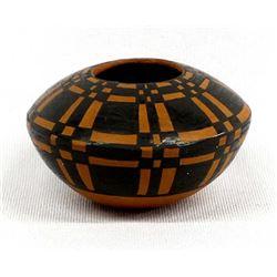 Small Mata Ortiz Pottery Seed Jar by L. Rodriguez