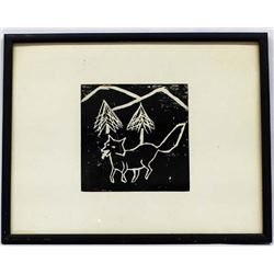 Woodblock Print by Marjorie Ford