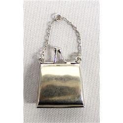 Sterling Silver Purse Pendant