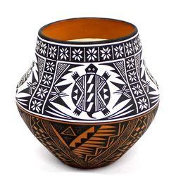 Stunning Acoma Pottery Jar by Terrance M. Chino
