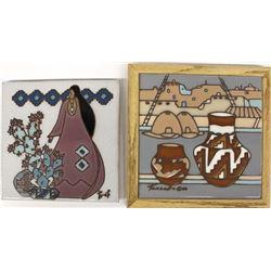 2 Southwestern Ceramic Tiles