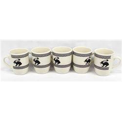 5 Anasazi Traders Designed Ceramic Rabbit Cups