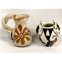2 Pieces of Small Native American Acoma Pottery