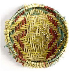 Native American Cherokee 3-Toned Sifter Basket