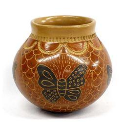 Mata Ortiz Pottery Butterfly Jar by H. Mora