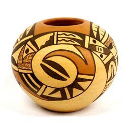 Beautiful Hopi Pottery Seed Jar by V. Dewakuku