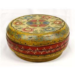 Beautiful Antique Oriental Lidded Wood Box