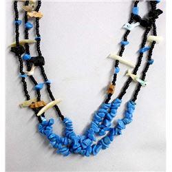 Turquoise Fetish Necklace by Kathy Kills Thunder