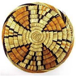 Vintage Hopi 2nd Mesa Coiled Flat Basket