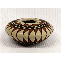 Small Mata Ortiz Pottery Seed Jar by Adan Villa