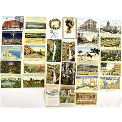 30 Vintage Postcards