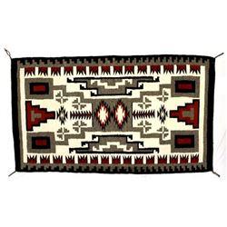 Large Navajo Storm Pattern Wool Textile Rug