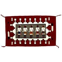 Large Navajo Yei Textile Wool Rug