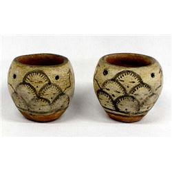 Early Native American Santo Domingo Pottery Jars