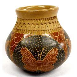 Mata Ortiz Pottery Jar by H. Mora
