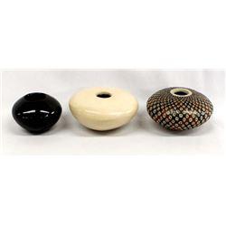 3 Small Mata Ortiz Pottery Jars