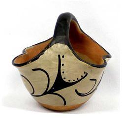 Vintage Santo Domingo Pottery Basket