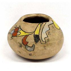 Vintage Native American Tesuque Pottery Jar