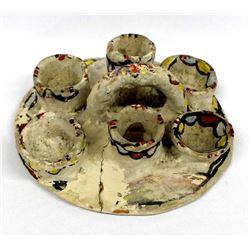 Vintage Tesuque Pottery Candleholder