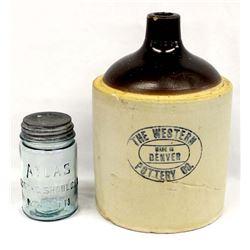 Western Pottery Co. Crock and Atlas Mason Jar