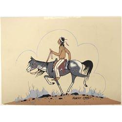 Native American Navajo Print by Robert Chee