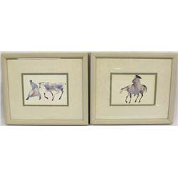 2 Framed Cherokee Prints by Carol Grigg