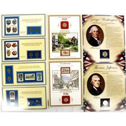 Collection of Commemorative Stamps and Coins
