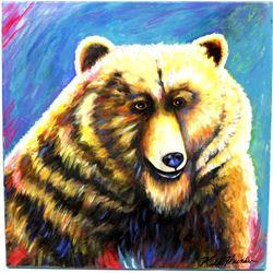 Original Acrylic Painting by Kathy Kills Thunder