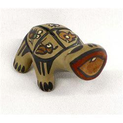 Santa Clara Whimsical Pottery Turtle by S. Naranjo