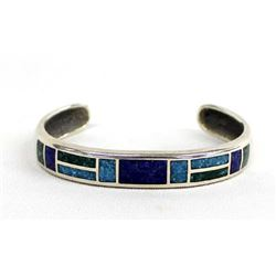 Coleman Company Sterling & Chip Inlay Bracelet