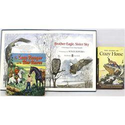 3 Vintage Children's Books, Cowboy & Indian