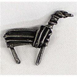 Cast Metal Horse Pin