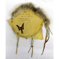 Native American Lakota Leather & Fur Banner